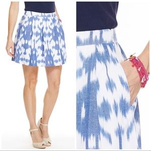 Vineyard Vines Ikat Pleated Pocket Skirt Size 2